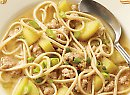 Click to read Pork, apple & miso noodle soup