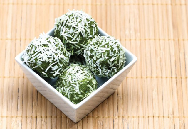 Green tea bliss balls