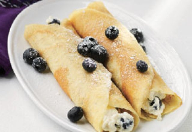 Blueberry Crepes With Orange Ricotta Filling Recipes — Dishmaps