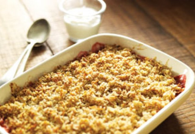 how to cook rhubarb crumble
