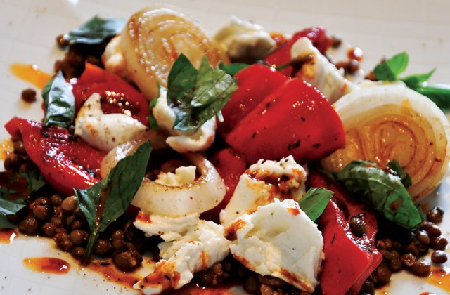 Buffalo Mozzarella Capsicum And Lentil Salad Recipe Nourish Magazine Australia