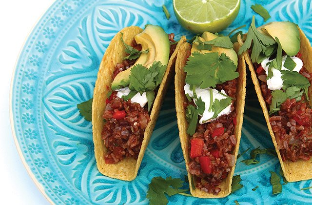 Red rice tacos vegetarian mexican recipes nourish magazine red rice tacos vegetarian mexican recipes nourish magazine australia forumfinder Choice Image