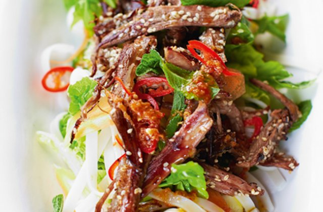 Lamb Noodle Salad With Chilli And Mint Jamie Oliver Recipes Nourish Magazine Australia