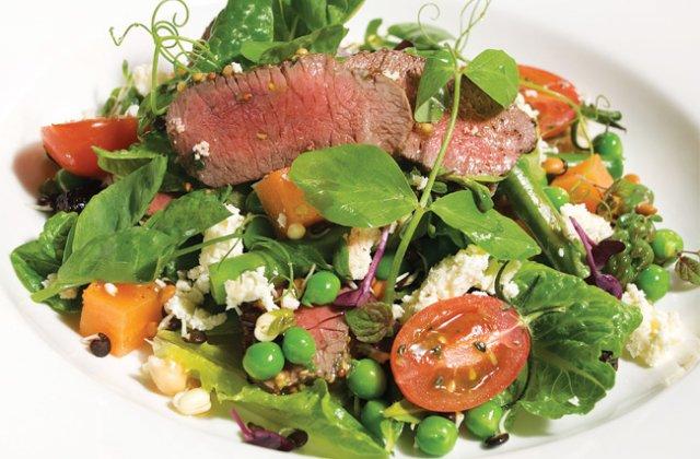 Spring lamb salad with sweet potato & asparagus | Nourish ...