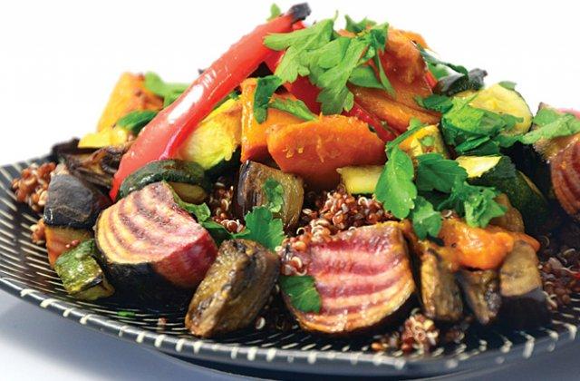 Roasted vegetable and quinoa salad (vegan) - Healthy salad recipes ...
