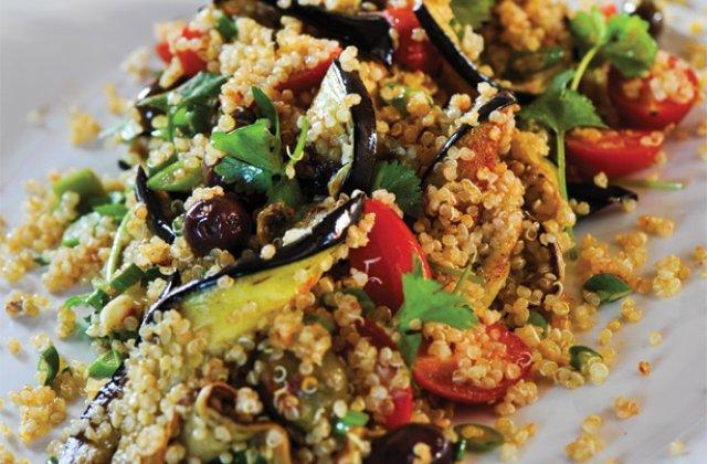 Spiced quinoa and eggplant salad recipe | Nourish magazine Australia